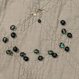 Floating Glass Bead Necklace